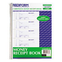 Rediform Office S16444WCL 3-Part Carbonless Flexible Cover Unnumbered Receipt Book with 120 Sheets