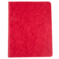 Universal Office UNV80579 11 inch x 8 1/2 inch Red Pressboard Report Cover with Prong Fastener, Letter