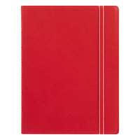 Filofax B115008U 8 1/4 inch x 5 13/16 inch Red Cover College Rule 1 Subject Notebook - 112 Sheets