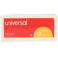 Universal UNV35668 3 inch x 3 inch Yellow Self-Stick Note - 12/Pack