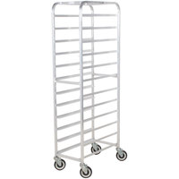 Winholt SS-1212 End Load Stainless Steel Platter Cart - Twelve 12 inch Trays