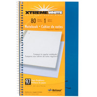 National 33560 9 1/2 inch x 6 inch Blue College Rule 1 Subject Wirebound Notebook - 80 Sheets
