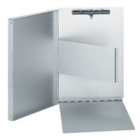 Universal UNV40300 2/5 inch Capacity 11 inch x 8 1/2 inch Silver High Capacity Clip Aluminum Clipboard