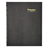 Blueline CF1200C81 7 1/4 inch x 9 1/4 inch Black August 2017 - December 2018 MiracleBind Hard Cover 17-Month Academic Planner