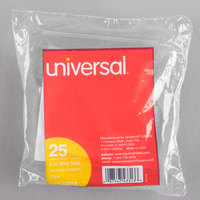 Universal UNV43313 3 1/2 inch Clear 1/3 Cut Plastic Hanging File Tab - 25/Pack