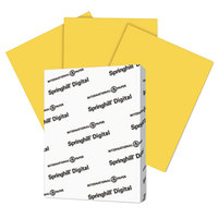 International Paper 086008 Springhill Digital 8 1/2 inch x 11 inch Goldenrod Pack of 7 pt. Vellum Paper Cover Stock - 250/Pack