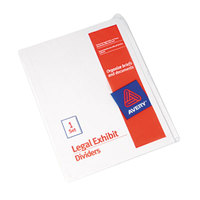 Avery 11959 25-Tab Blank Unpunched Legal Exhibit Index Divider Set