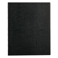Blueline A7150BLK 9 1/4 inch x 7 1/4 inch Black College Rule 1 Subject NotePro Notebook - 75 Sheets