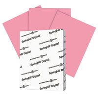 International Paper 075100 Springhill Digital 8 1/2 inch x 11 inch Cherry Pack of 90# Smooth Index Paper Cardstock - 250/Pack