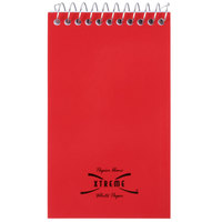 National 31120 5 inch x 3 inch Assorted Color Wirebound Top Opening Narrow Rule Memo Book - 60 Sheets