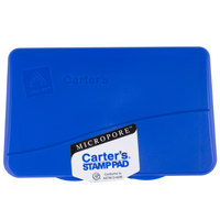 Avery 21261 Carter's 4 1/4 inch x 2 3/4 inch Blue Pre-Inked Micropore Stamp Pad