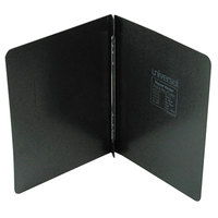 Universal Office UNV80571 11 inch x 8 1/2 inch Black Pressboard Report Cover with Prong Fastener, Letter