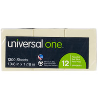Universal UNV28062 1 1/2 inch x 2 inch Yellow Recycled Sticky Note - 12/Pack