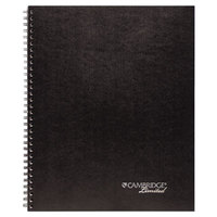 Cambridge MEA06064 Black Linen Action Planner Side Bound Guided Business Notebook, Letter - 80 Sheets