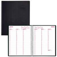 Brownline CB950VBLK 8 1/2 inch x 11 inch Black January 2020 - December 2020 DuraFlex 15-Minute Appointment Weekly Planner