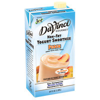 DaVinci Gourmet Peach Non-Fat Yogurt Fruit Smoothie Mix - 64 oz.
