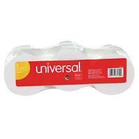 Universal Office UNV35720 2 1/4 inch x 150' White 1-Ply Adding Machine and Calculator 16# Paper Roll   - 3/Pack