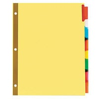 Universal UNV21876 Extended Multi-Color 8-Tab Insertable Index Divider Set - 6/Pack