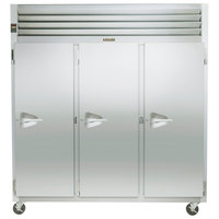 Traulsen G30012 77 inch G Series Three Section Solid Door Reach-In Refrigerator with Right Hinged Doors - 69 cu. ft.
