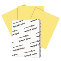 Springhill 055100 8 1/2 inch x 11 inch Buff Pack of 90# Index Card Stock - 250/Pack