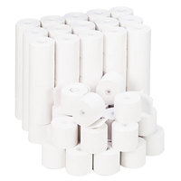 Universal Office UNV22200 2 1/4 inch x 165' White 1-Ply Adding Machine and Calculator 16# Paper Roll - 100/Case