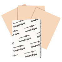 International Paper 058000 Springhill Digital 8 1/2 inch x 11 inch Peach Pack of 7 pt. Vellum Paper Cover Stock - 250/Pack