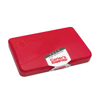 Avery 21071 Carter's 4 1/4 inch x 2 3/4 inch Red Pre-Inked Felt Stamp Pad