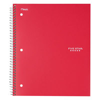 Five Star 72053 Red College Rule 1 Subject Trend Wirebound Notebook, Letter - 100 Sheets
