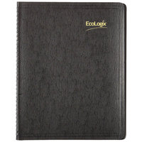 Brownline CB435WBLK 8 1/2 inch x 11 inch Black 2020 EcoLogix Soft Cover Monthly Planner