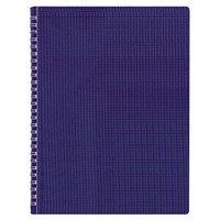 Blueline B4182 8 1/2 inch x 11 inch Blue College Rule Poly Cover Notebook, Letter - 80 Sheets