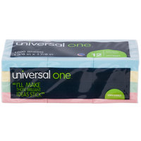 Universal UNV35663 1 1/2 inch x 2 inch Assorted Pastel Color Self-Stick Note - 12/Pack