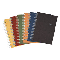 Mead 06674 9 1/2 inch x 6 inch Assorted Color College Rule 1 Subject Recycled Notebook - 120 Sheets