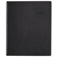 Brownline CB1262VBLK 8 1/2 inch x 11 inch Black December 2020 - January 2022 DuraFlex 14-Month Planner