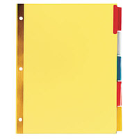 Universal UNV21874 Extended Multi-Color 5-Tab Insertable Index Divider Set - 6/Pack