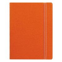 Filofax B115010U 8 1/4 inch x 5 13/16 inch Orange Cover College Rule 1 Subject Notebook - 112 Sheets