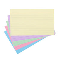 Universal UNV47216 3 inch x 5 inch Assorted Color Ruled Index Cards - 100/Pack