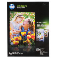 Hewlett-Packard CH097A 5 inch x 7 inch Glossy Everyday Pack of 8 mil Photo Paper - 60/Sheets