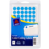 Avery 5050 1/2 inch Light Blue Round Removable Color Coding Labels - 840/Pack