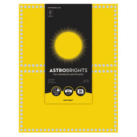 Neenah WAU91106 Astrobrights 8 1/2 inch x 11 inch Solar Yellow / Silver Foil-Enhanced 65# Certificate Paper - 30/Pack