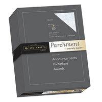Southworth SOU964C 8 1/2 inch x 11 inch Blue 24# Parchment Specialty Paper