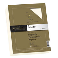 Southworth 368C 8 1/2 inch x 11 inch Ivory Box of 32# 25% Cotton Premium Laser Paper - 300/Sheets
