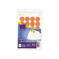 Avery 05471 3/4 inch Neon Orange Round Removable Write-On / Printable Labels - 1008/Pack