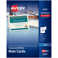 Avery 3379 4 1/4 inch x 5 1/2 inch Printable Textured Note Cards with Envelopes - 50/Pack