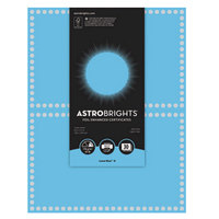 Astrobrights 91109 8 1/2 inch x 11 inch Lunar Blue / Silver Foil-Enhanced Pack of 65# Certificate Paper - 30/Sheets