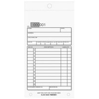 Rediform Office 5L250 3 5/8 inch x 6 3/8 inch 3-Part Carbonless Sales Book 50 Forms