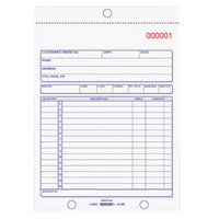Rediform Office 5L320 5 1/2 inch x 7 7/8 inch 2-Part Carbonless Sales Book 50 Forms