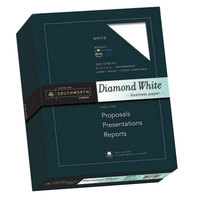 Southworth 3122010 8 1/2 inch x 11 inch Diamond White 25% Cotton 20# Business Paper - 500/Pack