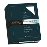 Southworth 3122410 8 1/2 inch x 11 inch Diamond White 25% Cotton 24# Business Paper - 500/Pack