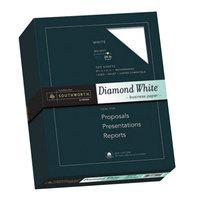 Southworth SOU3122410 8 1/2 inch x 11 inch Diamond White 25% Cotton 24# Business Paper - 500/Pack