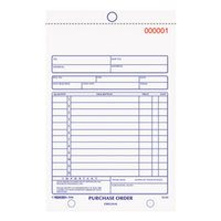 Rediform Office 1L141 5 1/2 inch x 7 7/8 inch 3-Part Carbonless Purchase Order Book with 50 Sheets